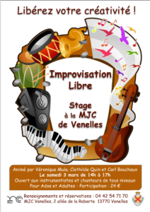 Nouveau projet, Stage Improvisation libre et Stage d'été de JeP